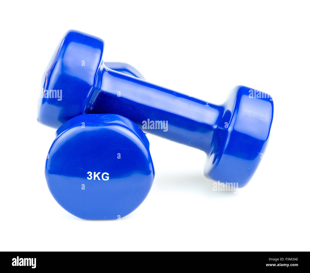 3kg home dumbbell weights for working out - Stock Image