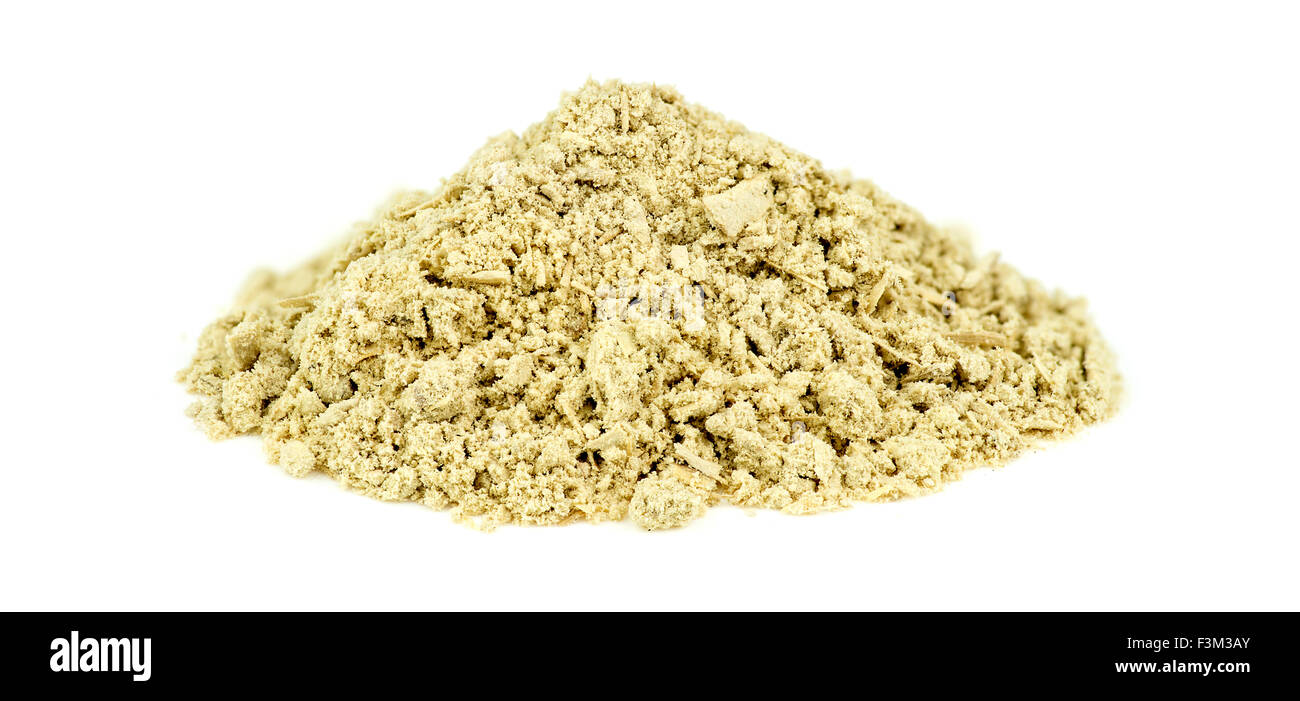 Pile of kava kava root isolated on white - Stock Image