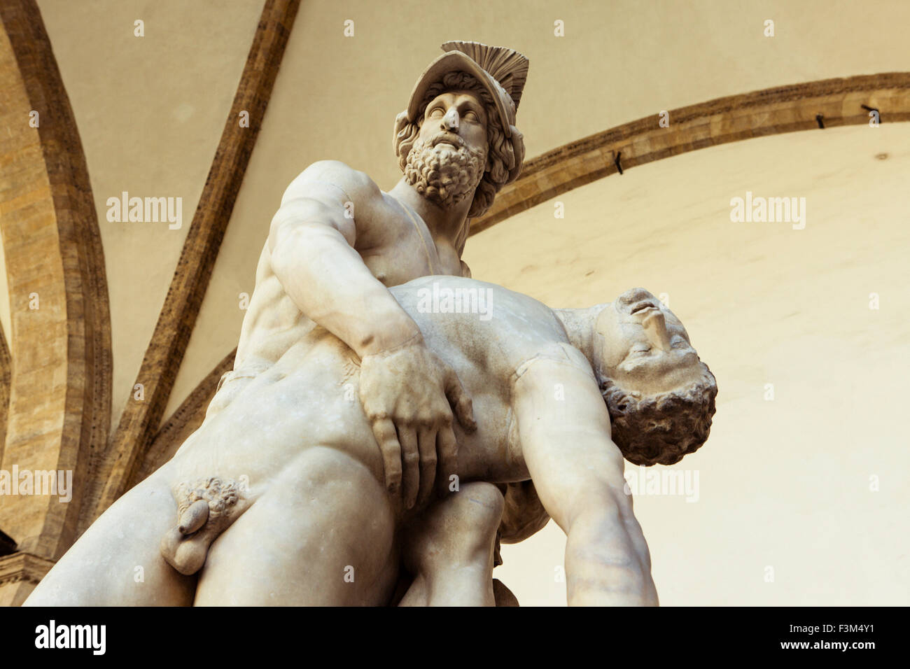 Statues in the Loggia Dei Lanzi, in Florence, Tuscany, Italy - Stock Image