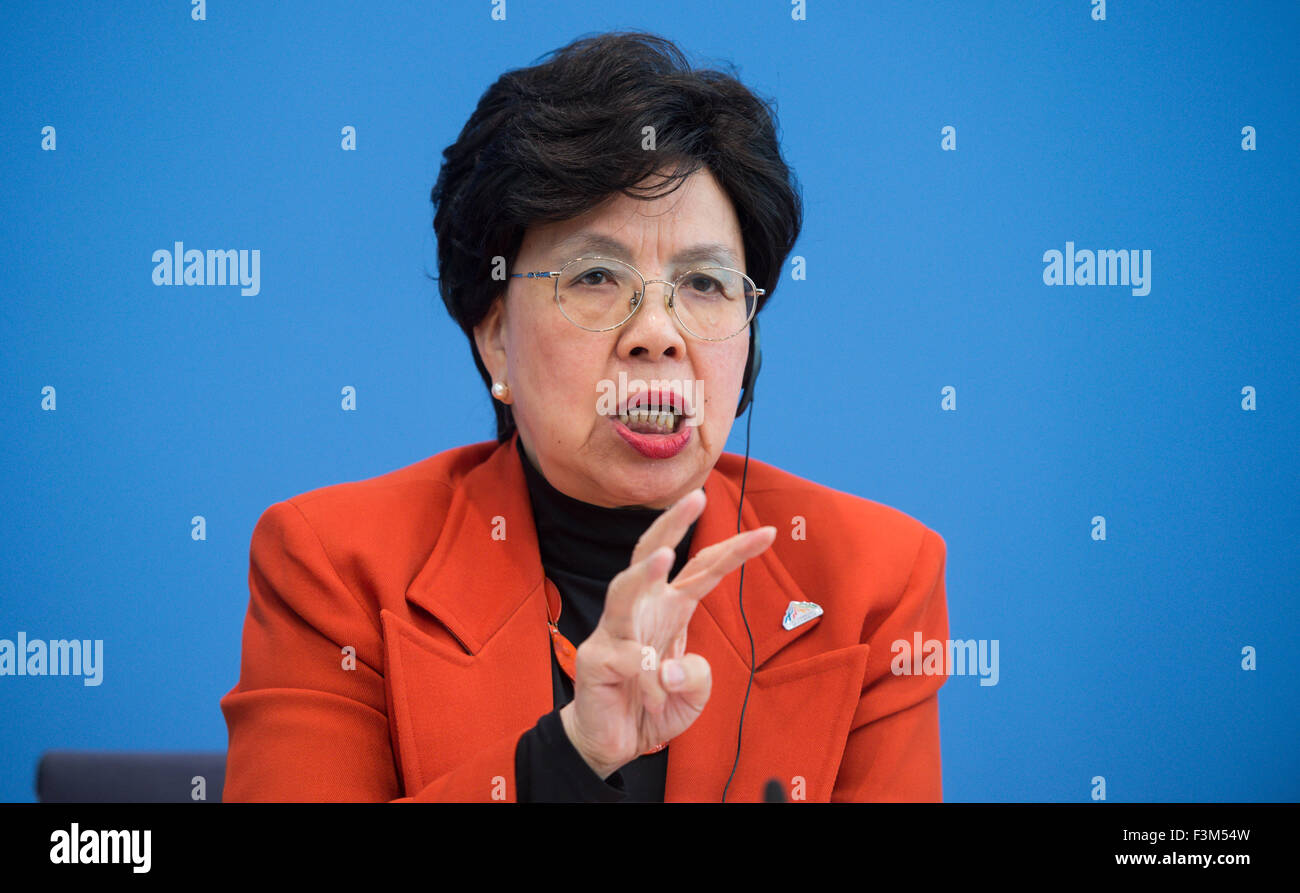 Berlin, Germany  9th Oct, 2015  Margaret Chan, General Director of