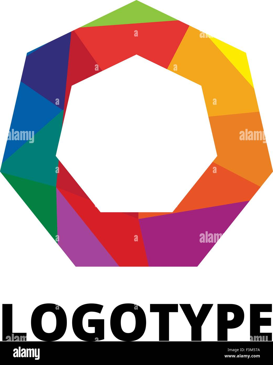 letter o vector origami logo icon colorful abstract design template element logo icon