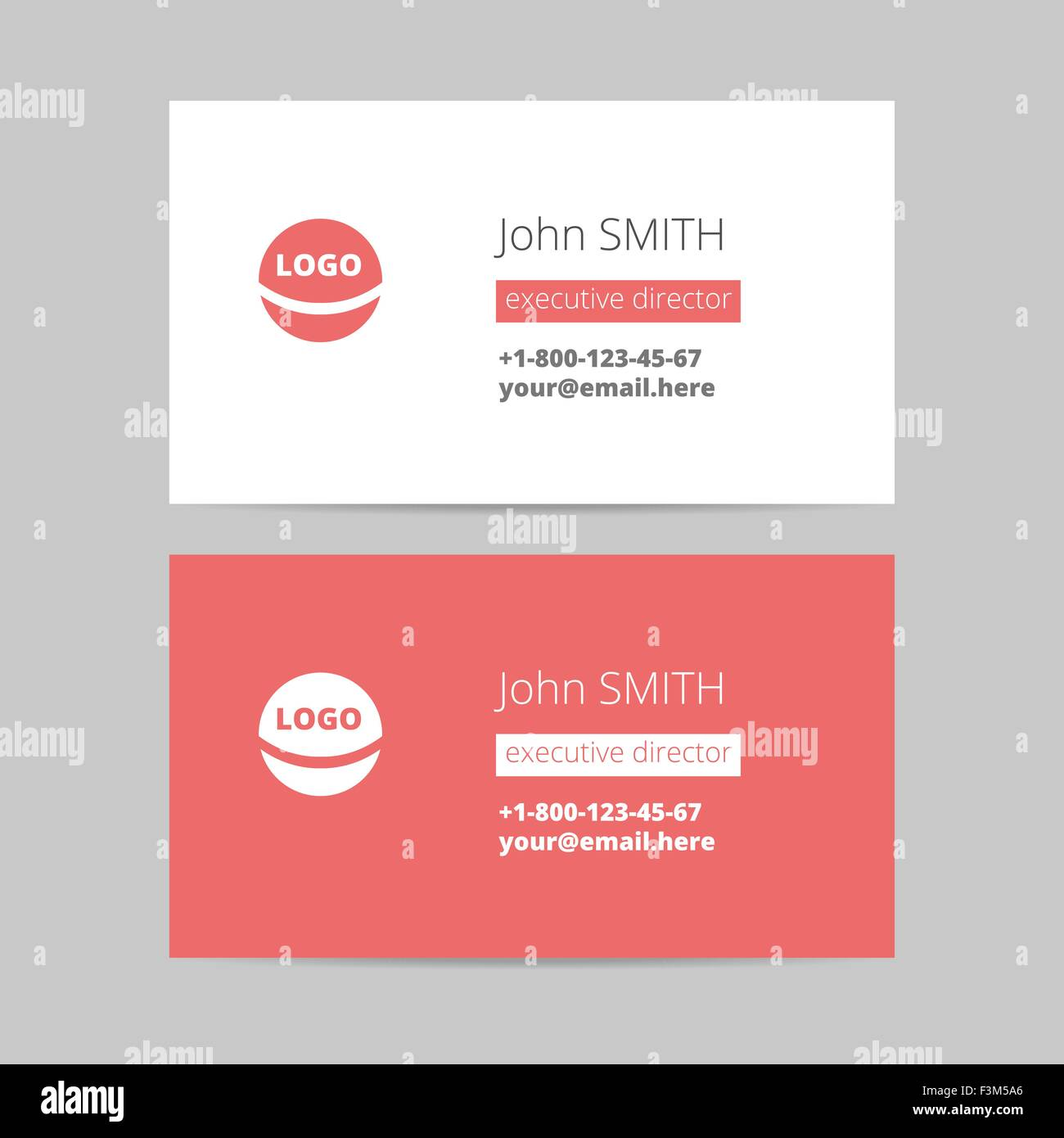 Minimalist style red business card vector template stock vector art minimalist style red business card vector template reheart Choice Image
