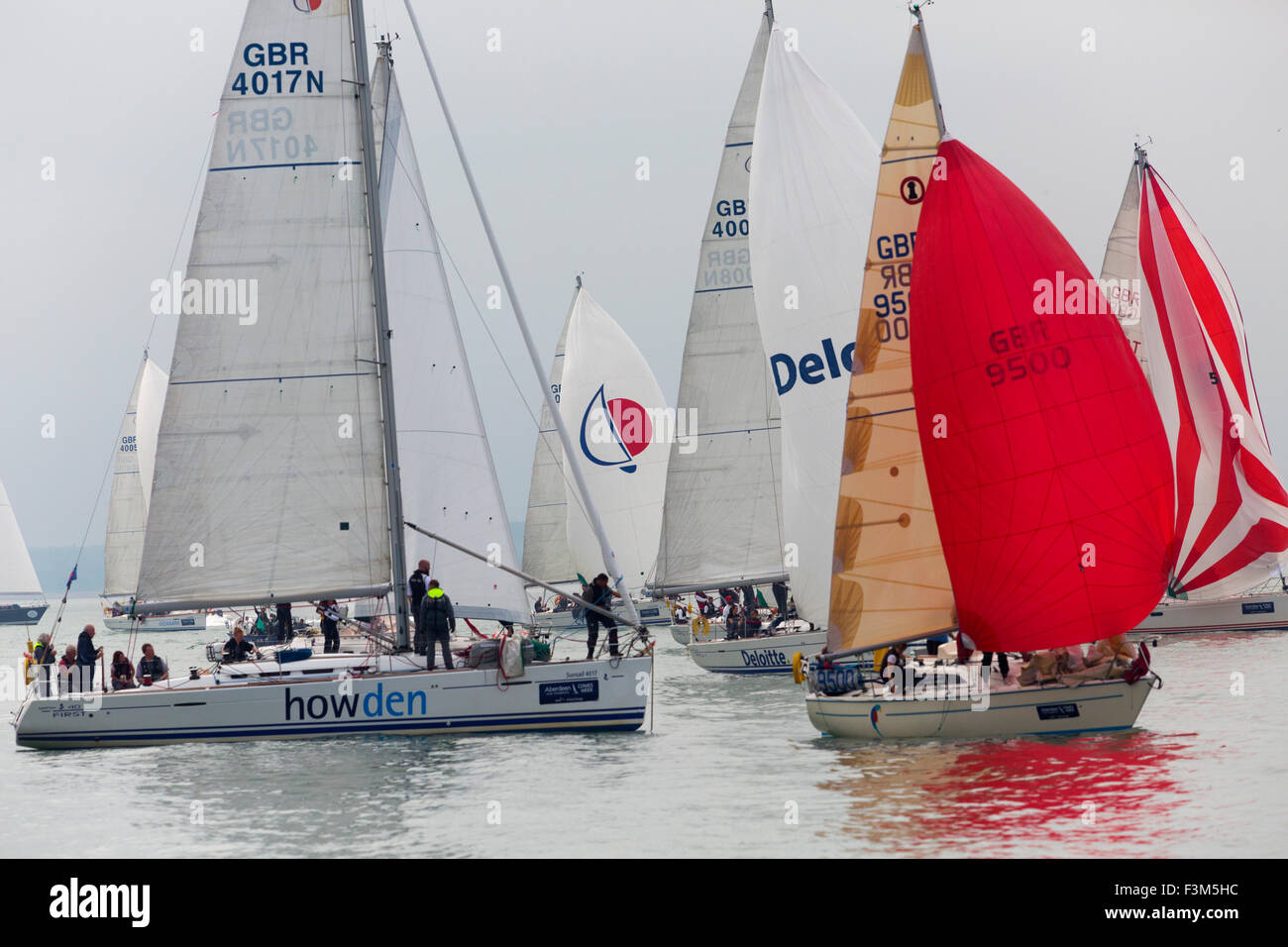 Yacht Racing, Shore side entertainments, Bands, Yacht Club scenes, 2015, Cowes Week, Isle of Wight, England, UK, - Stock Image