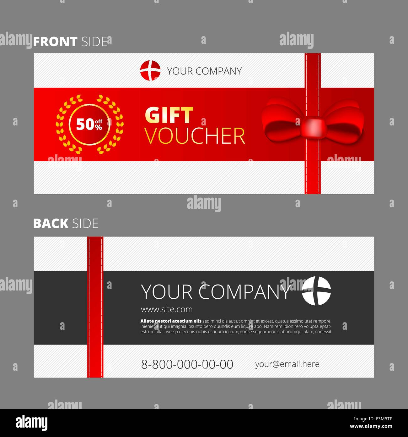 Design Of Voucher And Gift Certificate Coupon Template Design Stock