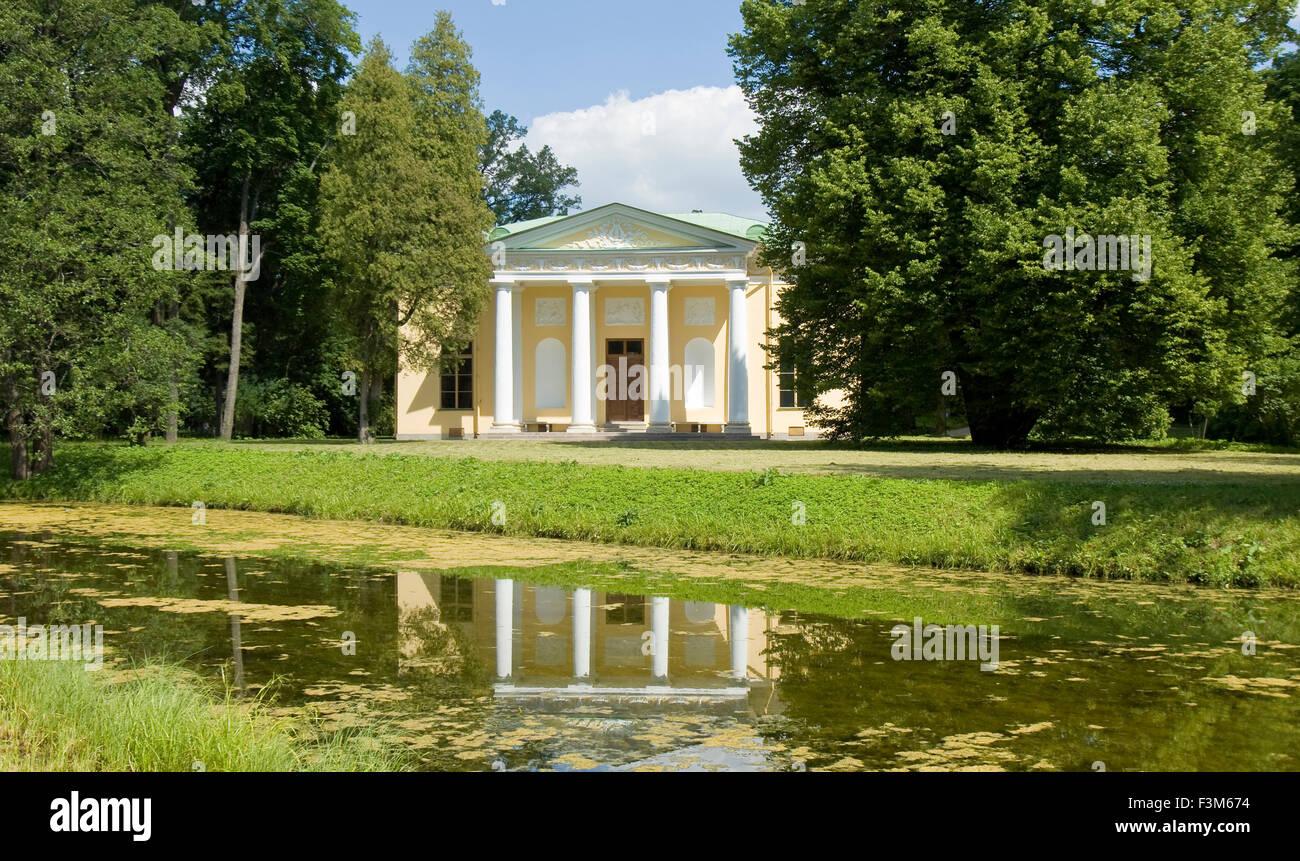 Tsarskoe selo, Russia - July 07, 2012: little palace in park. - Stock Image