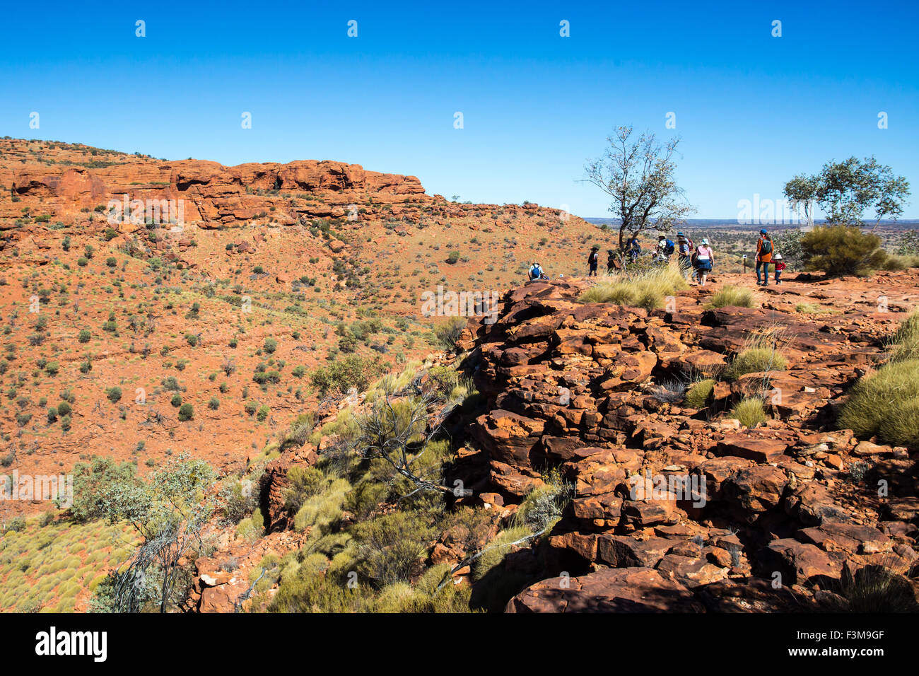 Valley view at Kings Canyon in Northern Territory, Australia Stock Photo