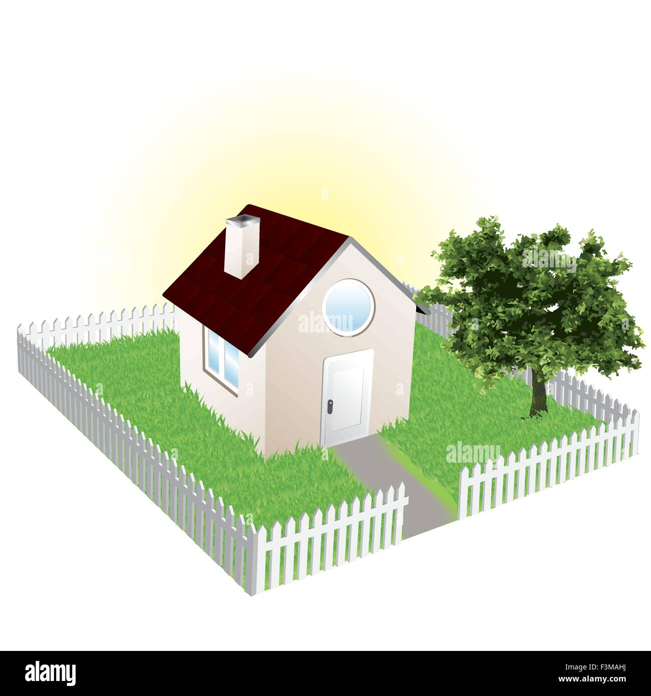 Sweet home and garden - Stock Vector