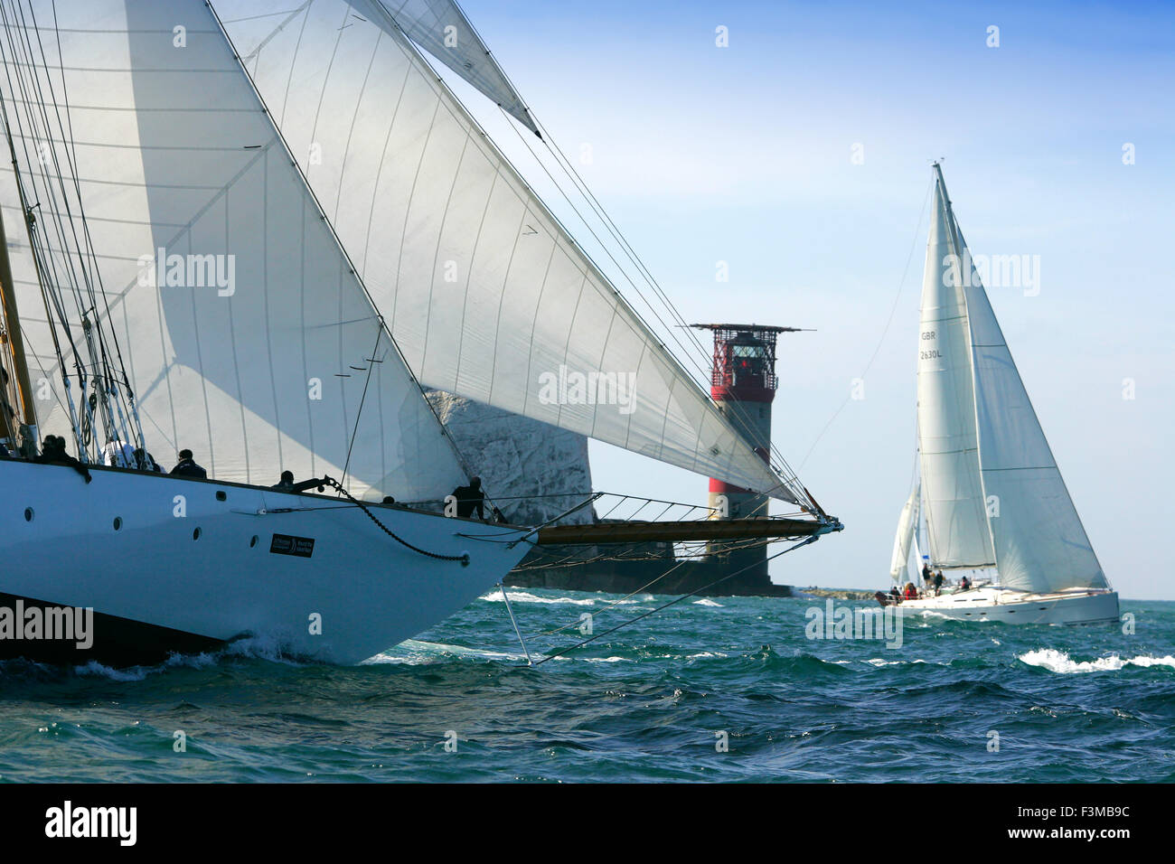 2015, J P Morgan Round the Island Race, Round the Island Race, Cowes, Isle of Wight, - Stock Image