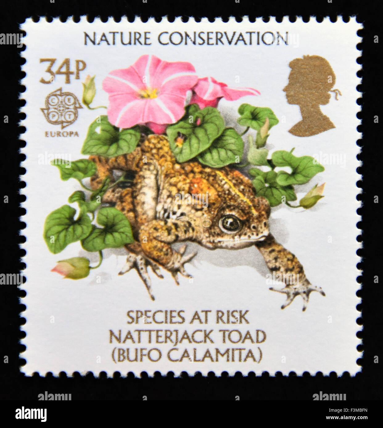 Postage stamp  Great Britain  Queen Elizabeth II  1986