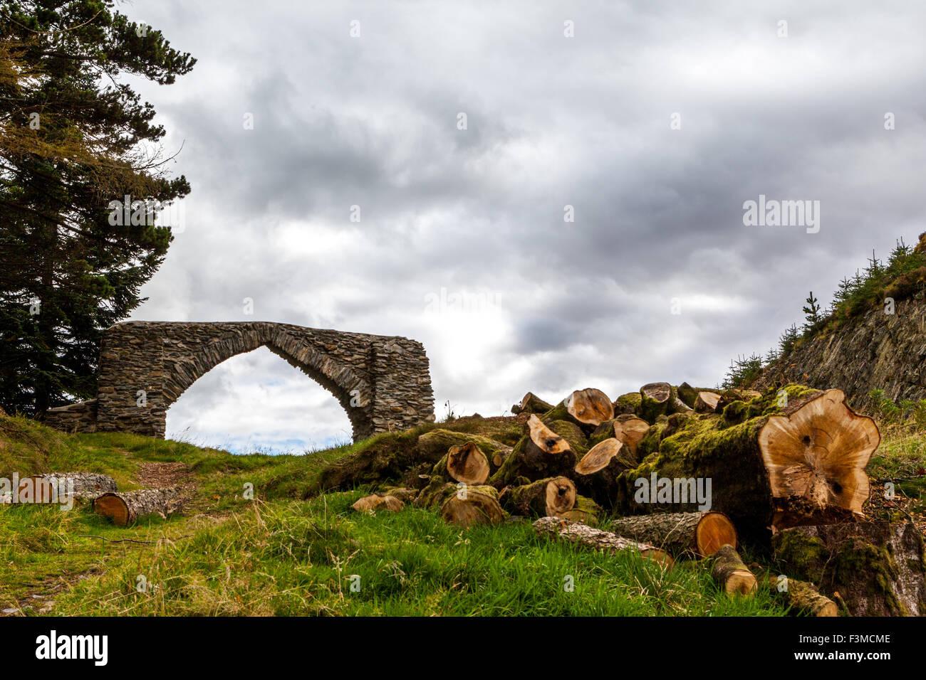 The Arch near Devils bridge mid Wales UK - Stock Image