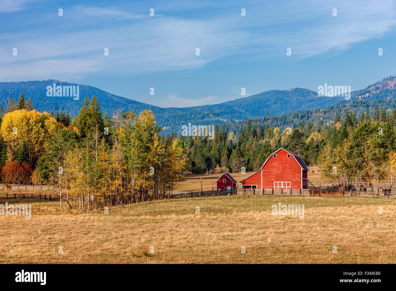 barnyard scene in autumn stock photo 88346146 alamy