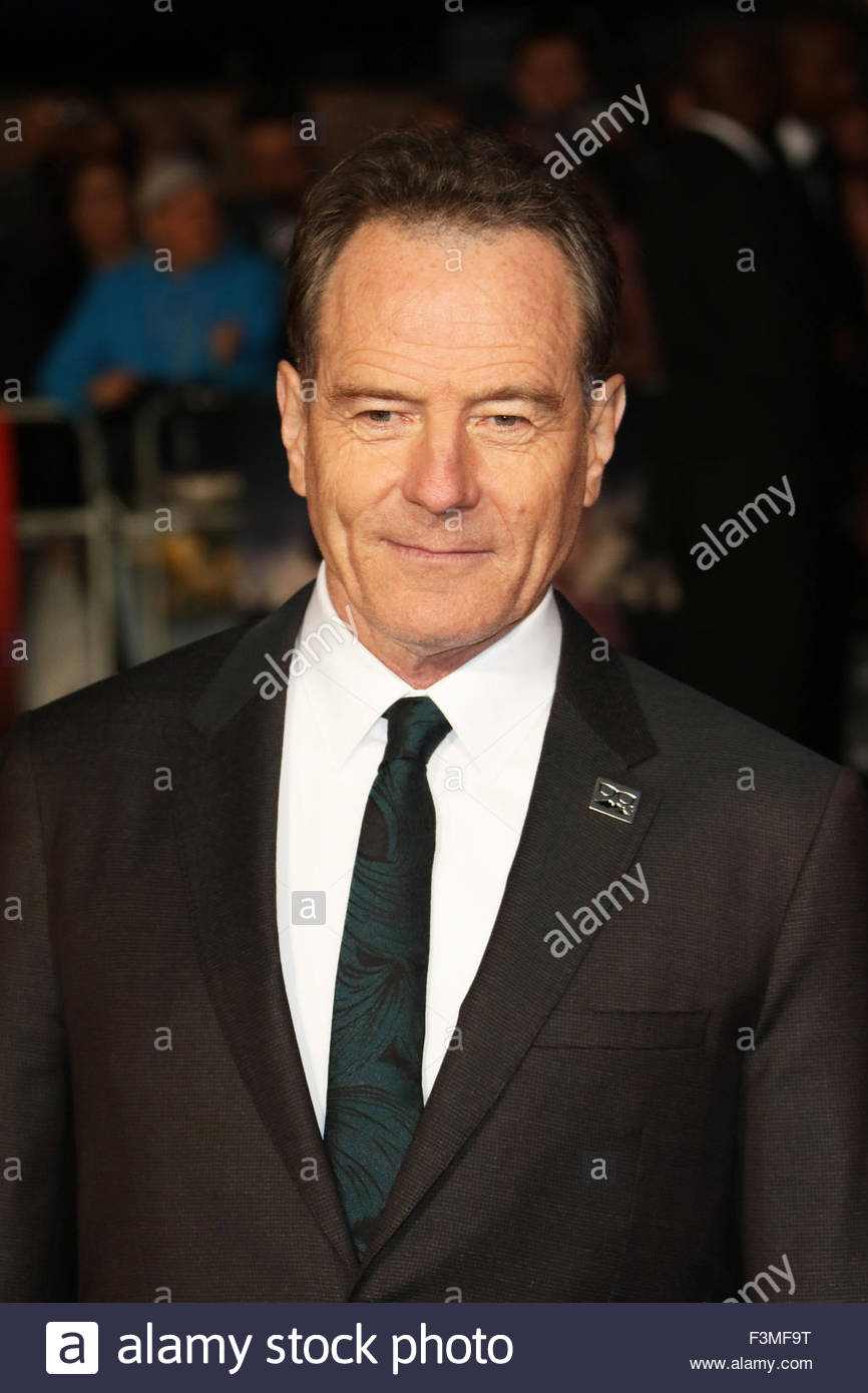 London, Great Britain. October 8th, 2015. ENGLAND, London: Bryan Cranston attends the London Film Festival in London, - Stock Image