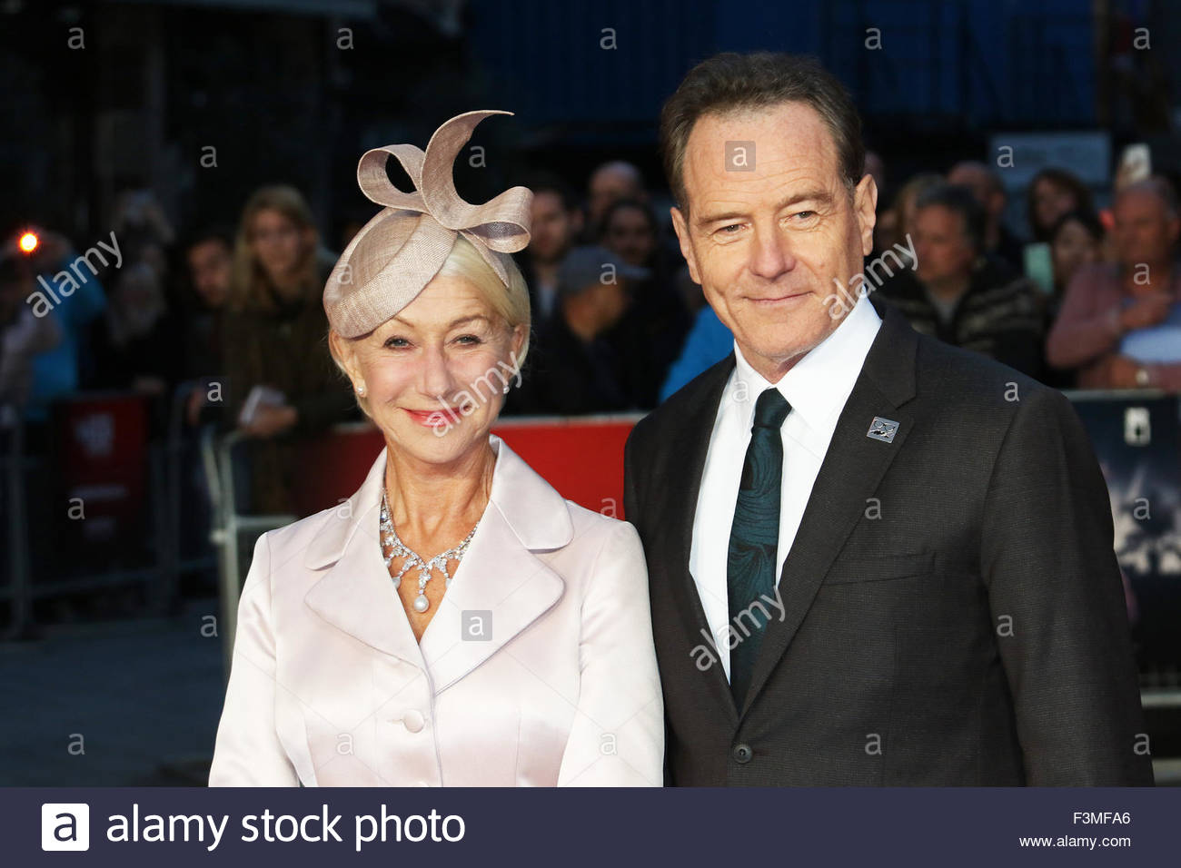 London, Great Britain. October 8th, 2015. ENGLAND, London: Helen Mirren and Bryan Cranston attend the London Film - Stock Image