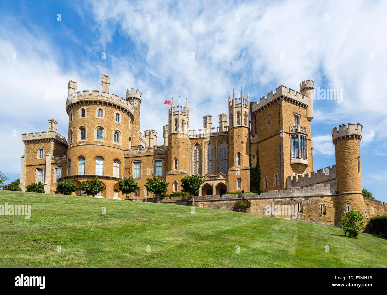 Belvoir Castle, a stately home in Leicestershire, England, UK - Stock Image