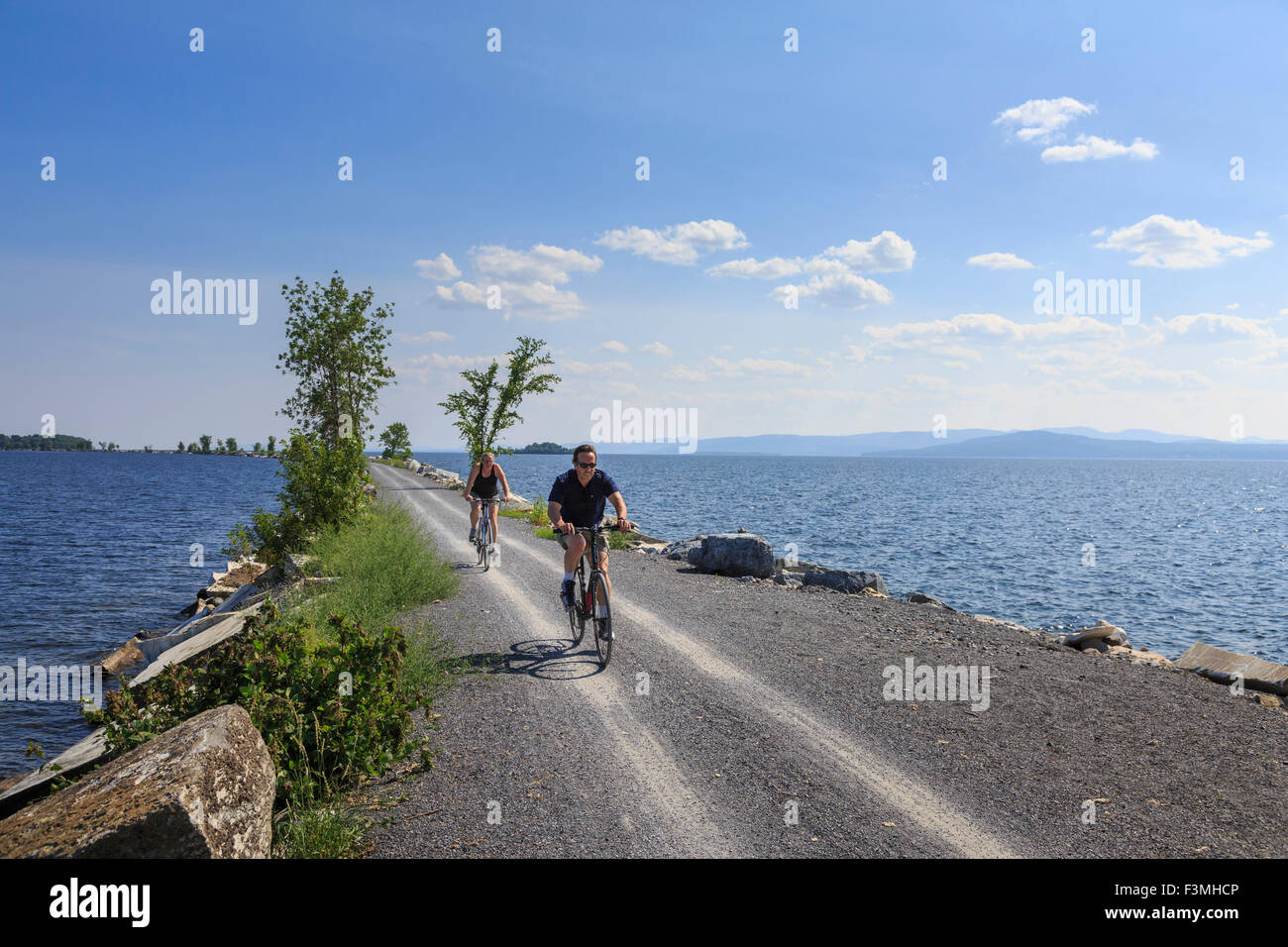 Bike Path Colchester Causeway Park on Lake Champlain Burlington