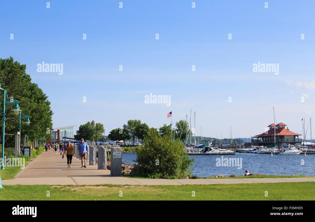 Waterfront Park on Lake Champlain, Burlington, Vermont, USA - Stock Image