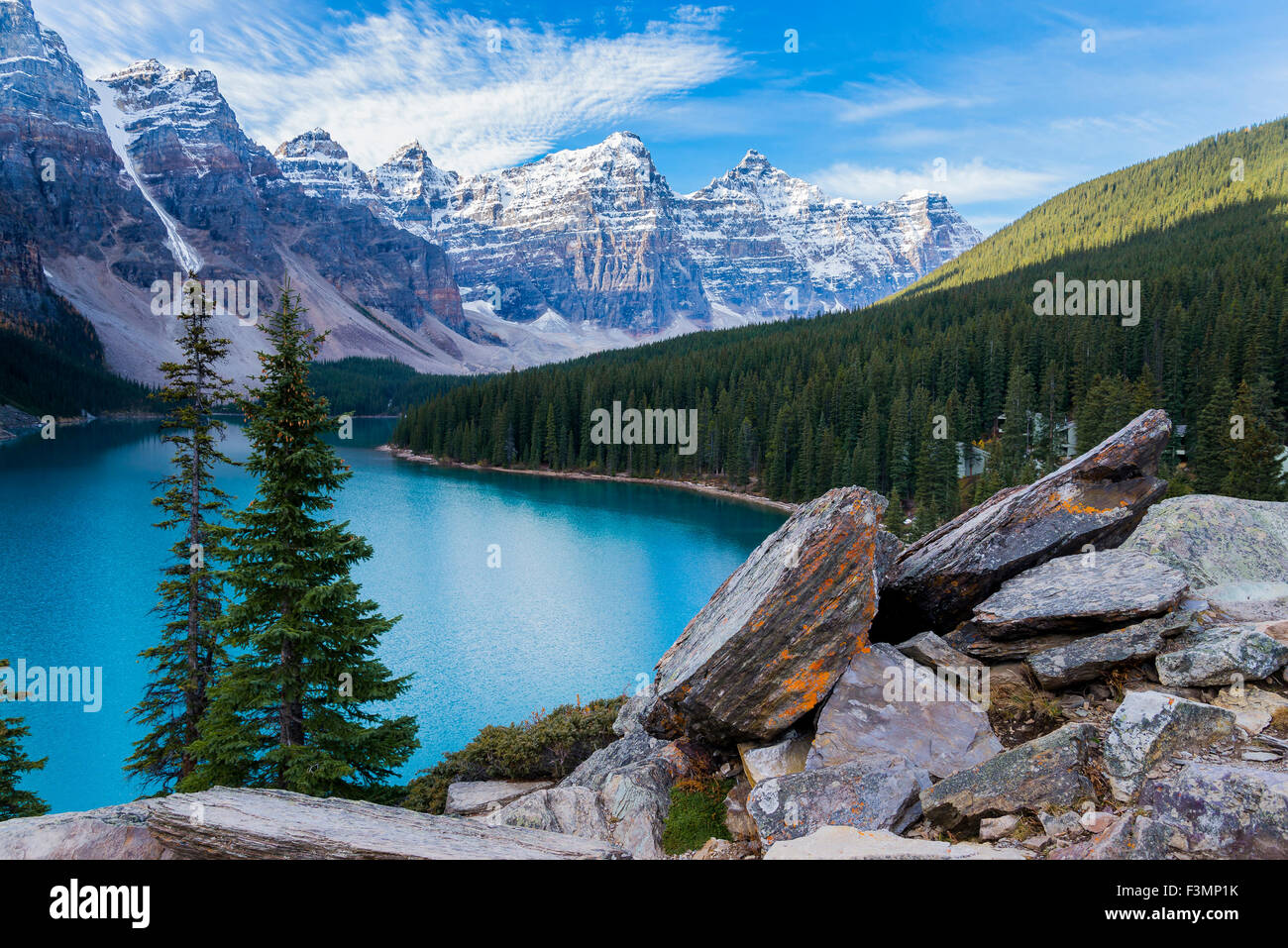 Moraine Lake, Banff National Park, Alberta, Canada, - Stock Image