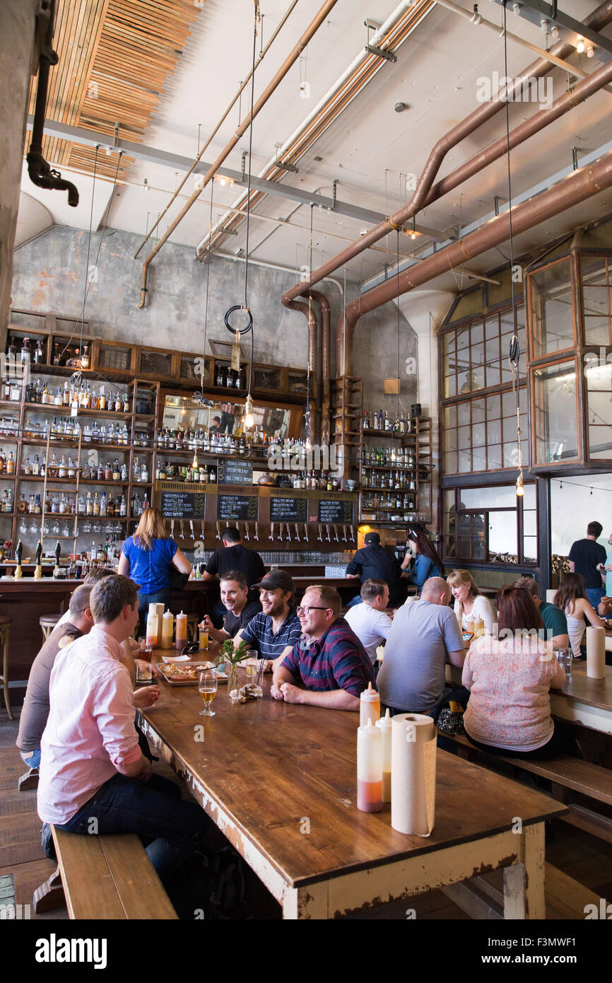 A general view of Magnolia Brew House in San Francisco,CA. - Stock Image