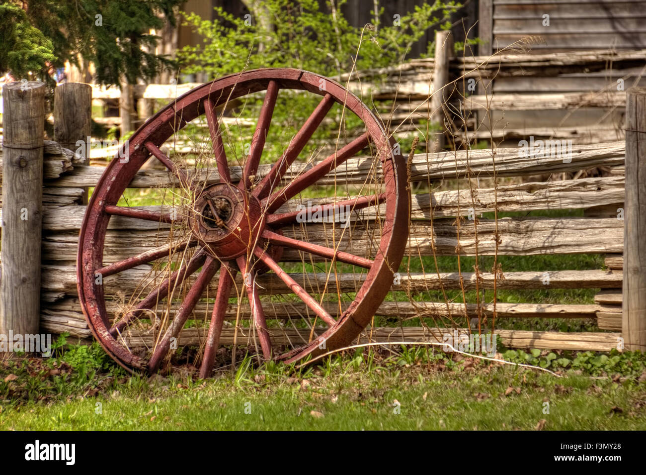 Wagon Wheel Fence High Resolution Stock Photography And Images Alamy