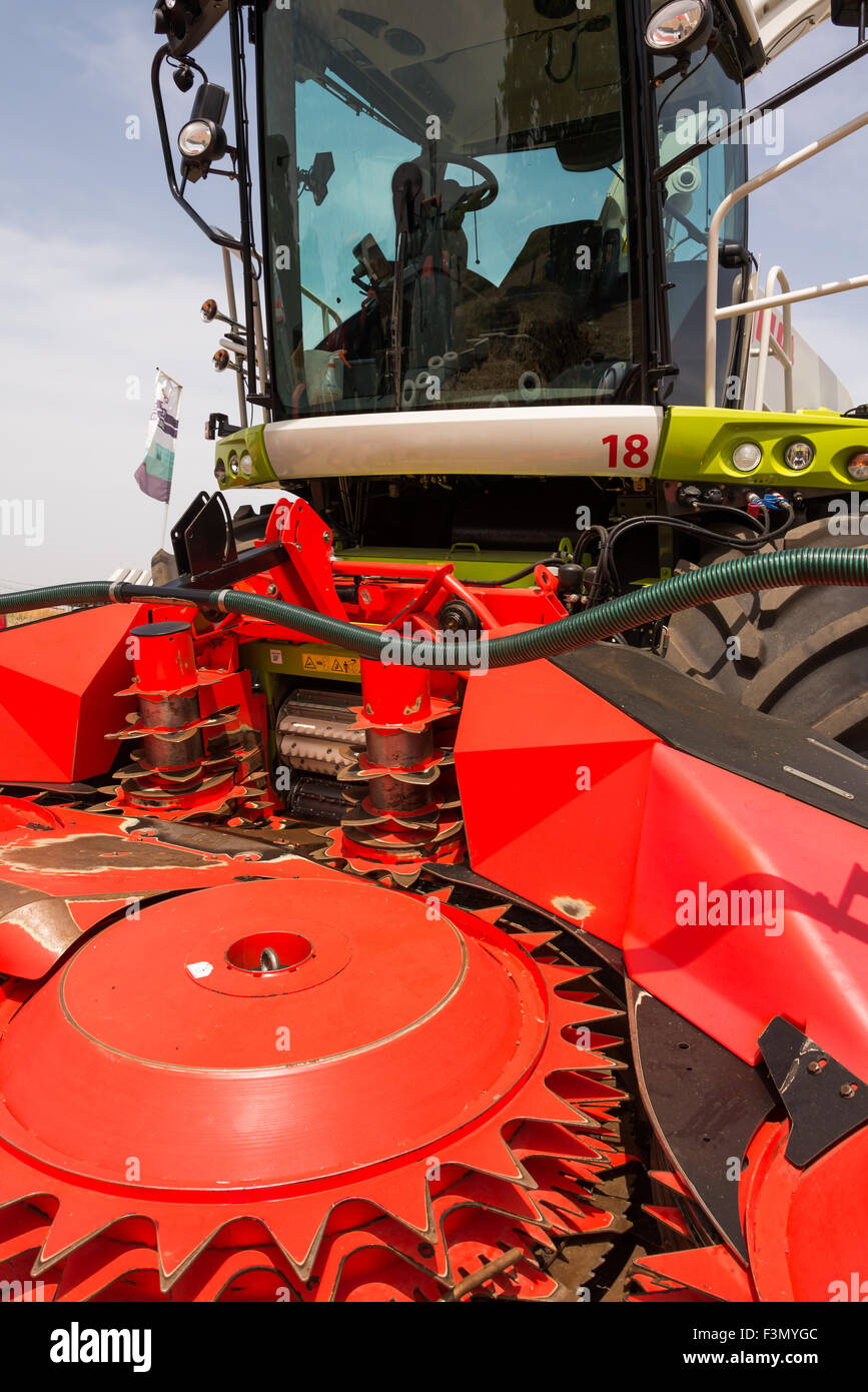 Combine harvester on Shavuout - Stock Image
