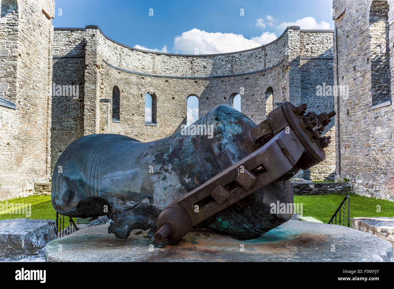 All That Remains Of St Raphaels >> The Bell Remains Of St Raphael S Church On Display Stock Photo