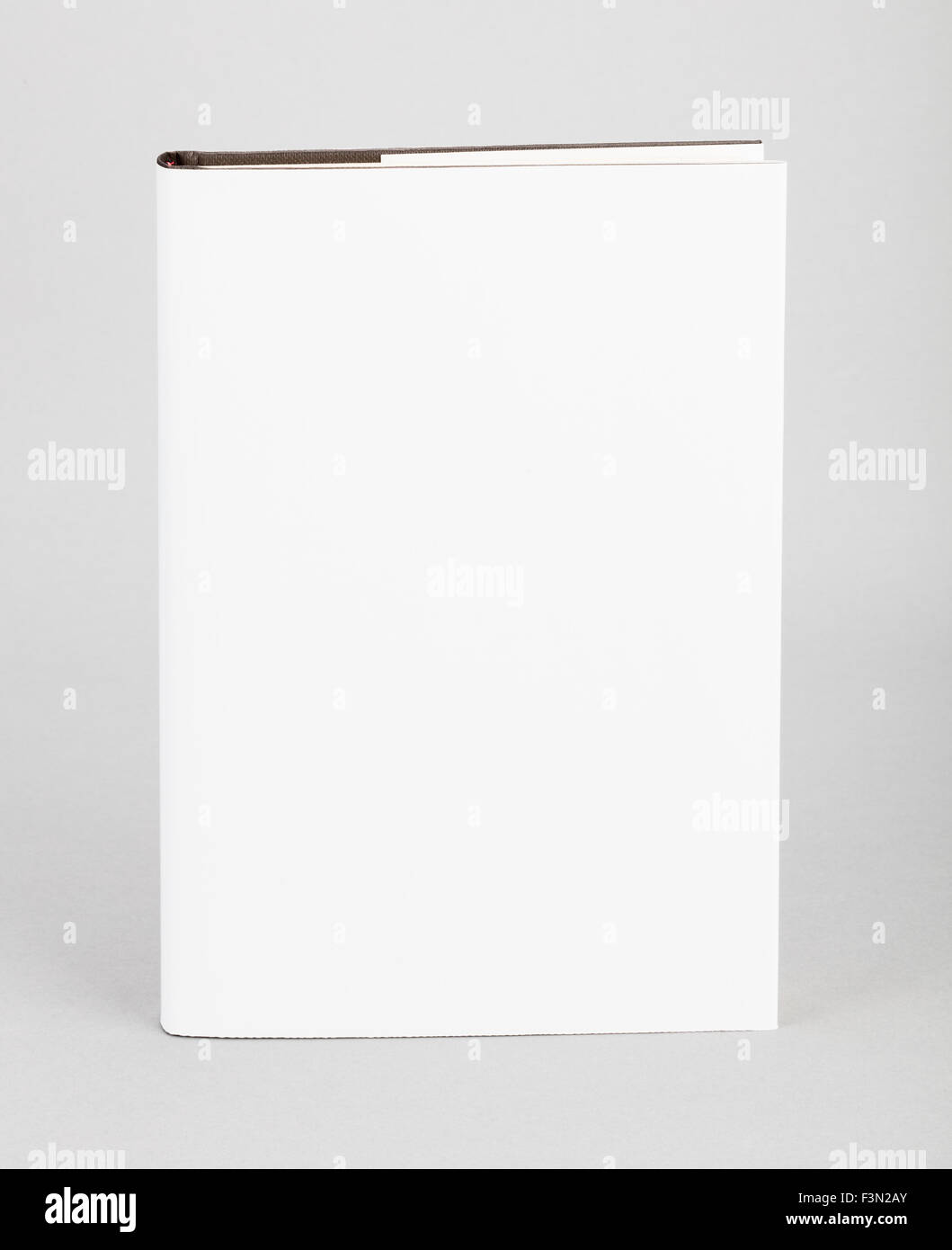 Blank book with white cover - Stock Image