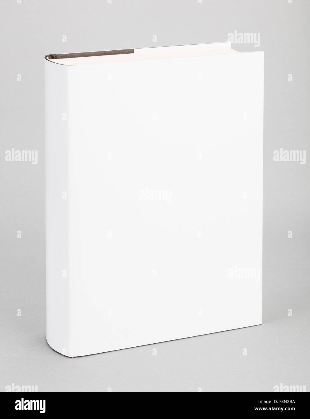 Thick Blank book with white cover - Stock Image