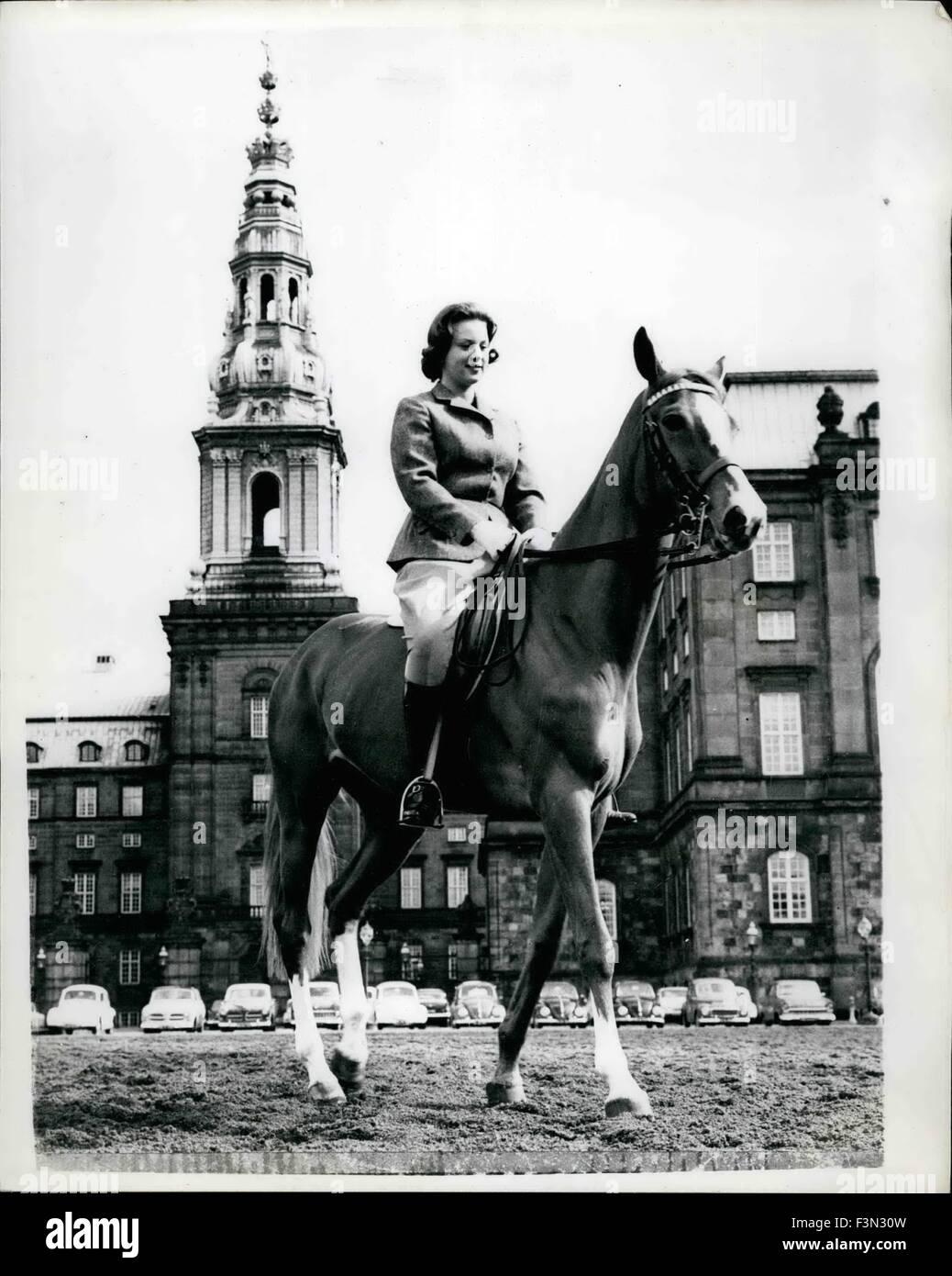 Jan. 04, 1953 - Prince Benedikte will be is this month: Princess Benedikte daughter of King Frederik and Queen Ingrid - Stock Image