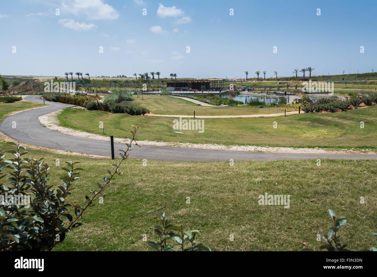Visit to Hiriya (Ariel Sharon park), Israel - Stock Image