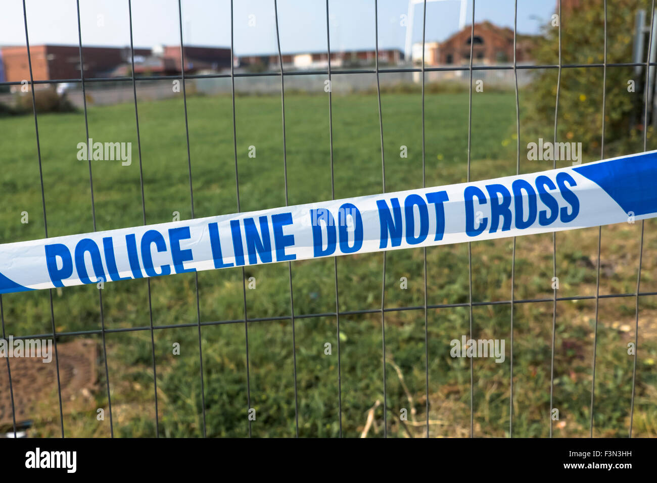 Police Line do not cross tape - Stock Image