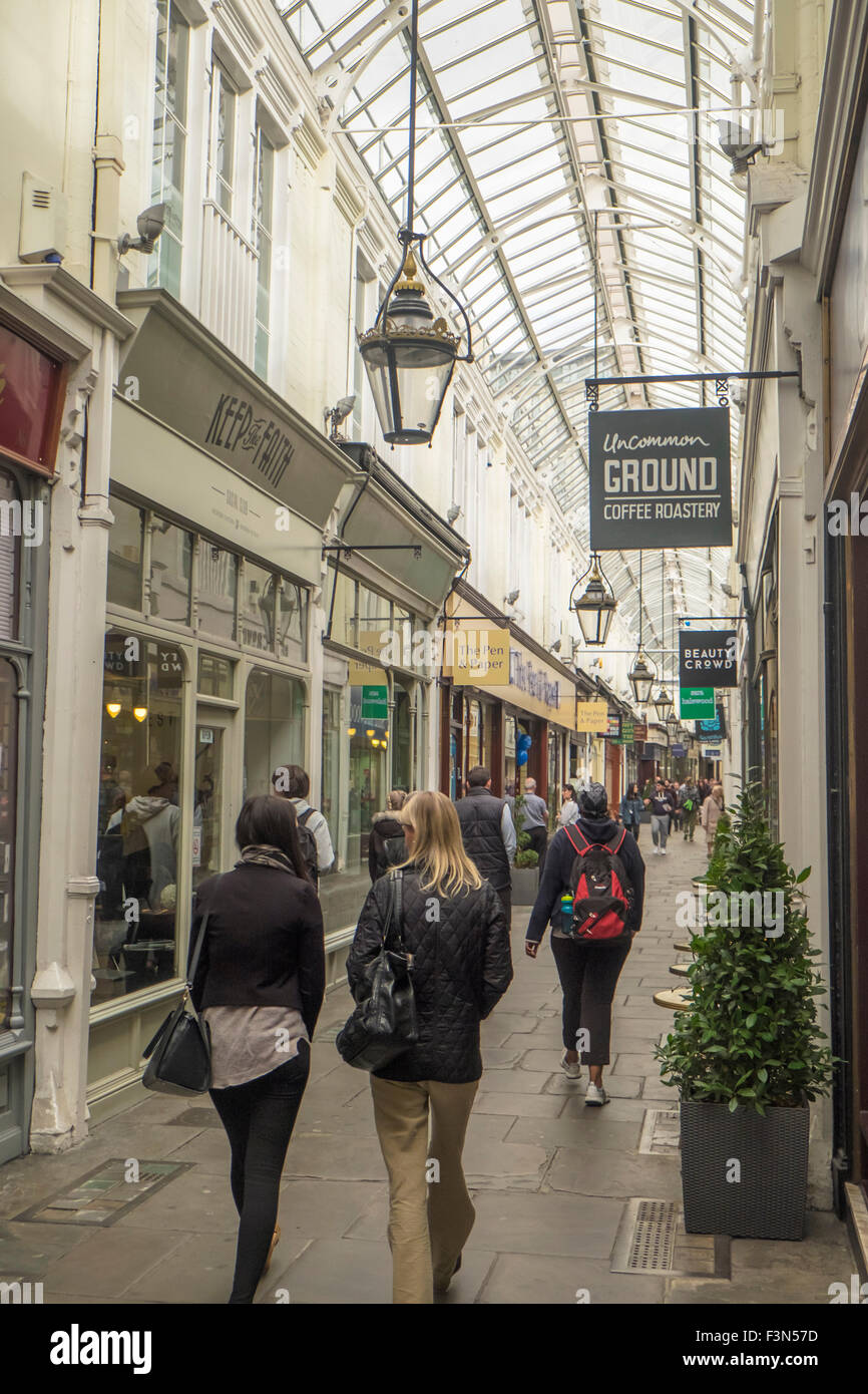 The Royal Arcade Cardiff Wales - Stock Image