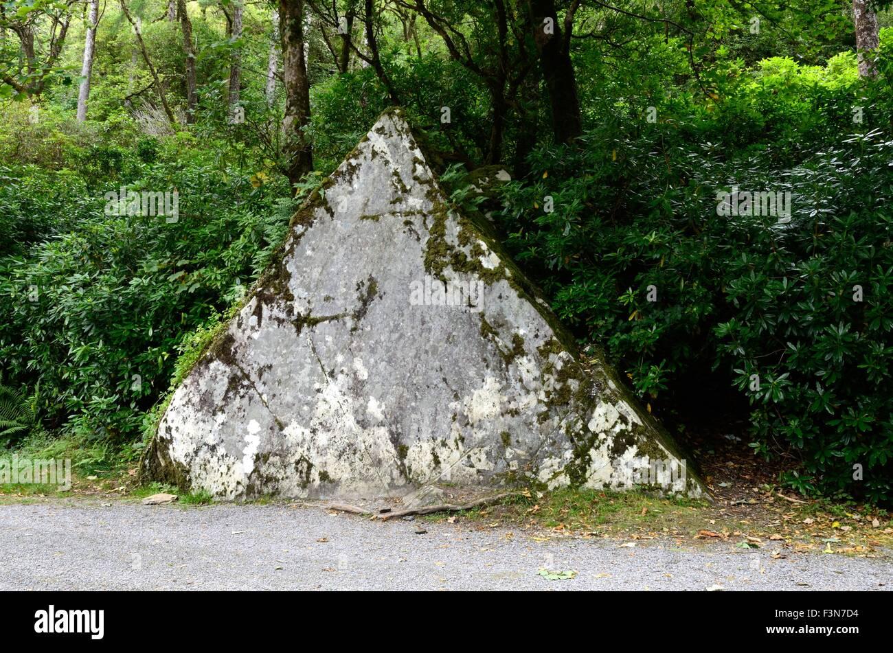 The Ironing Stone Kylemore Abbey Connemara County Galway Ireland - Stock Image
