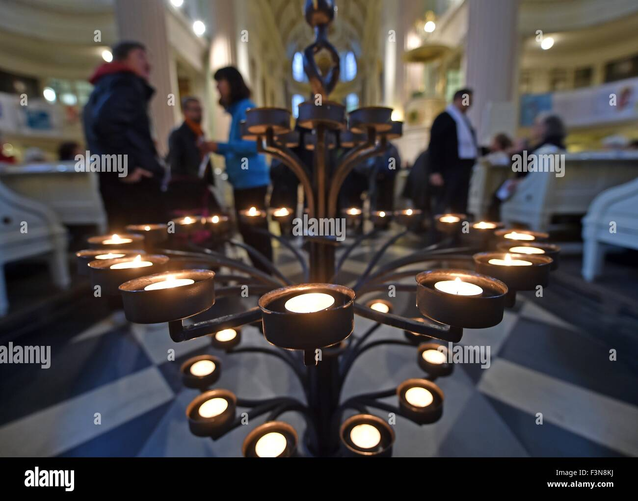 Leipzig Germany Th Oct Lit Candles Are On Display At St - Lit design 2015