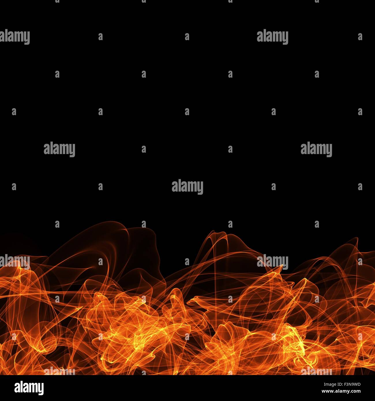 fire frame on black background template for website computer