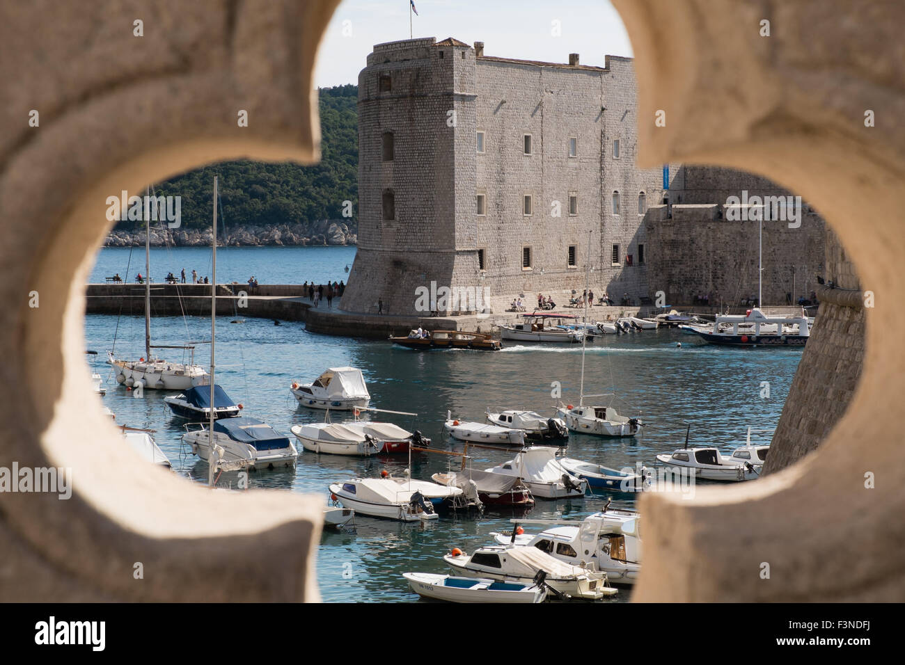 Dubrovnik Old City harbour - Stock Image