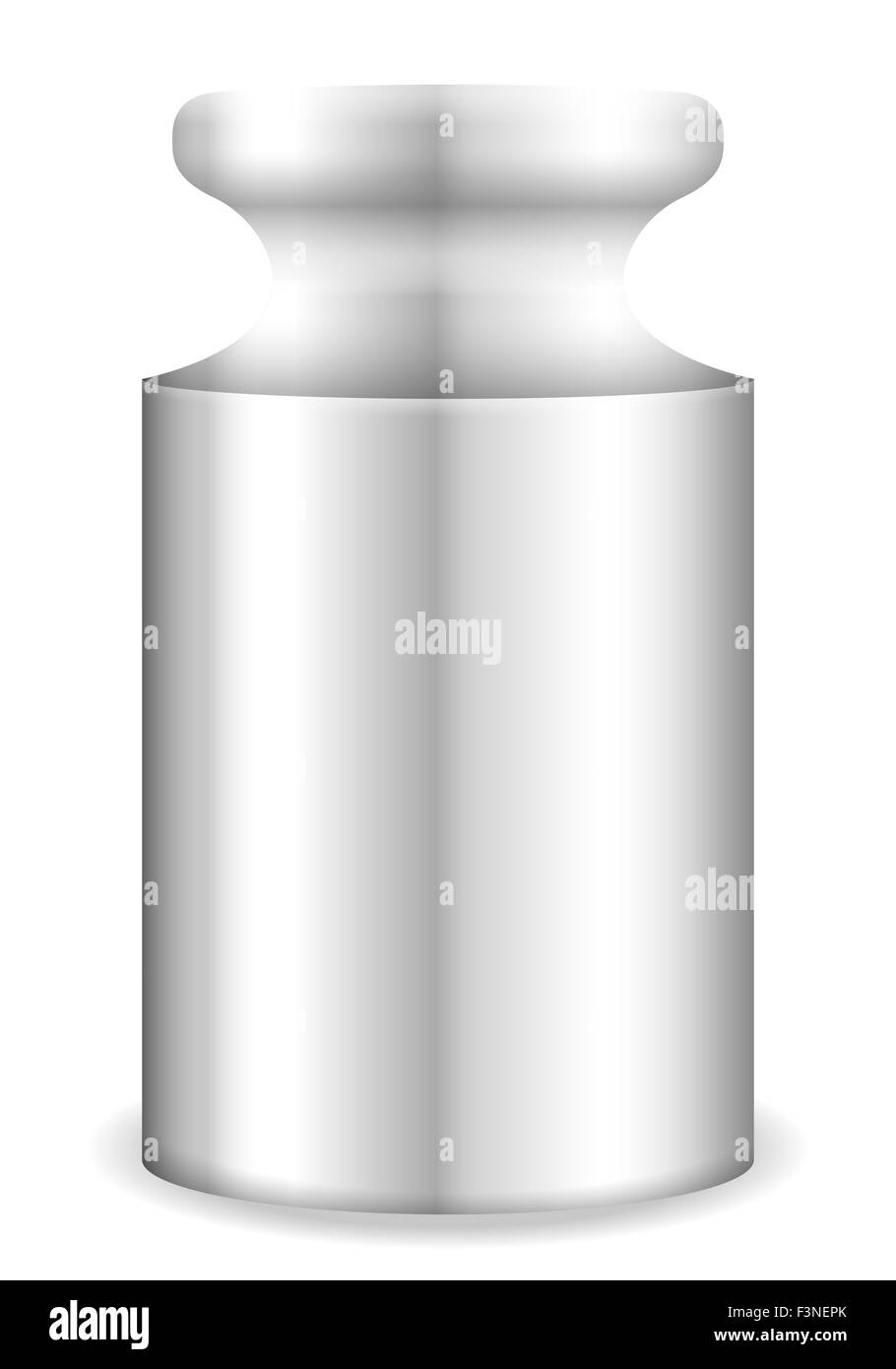 Calibration weight on a white background. Vector illustration. - Stock Image