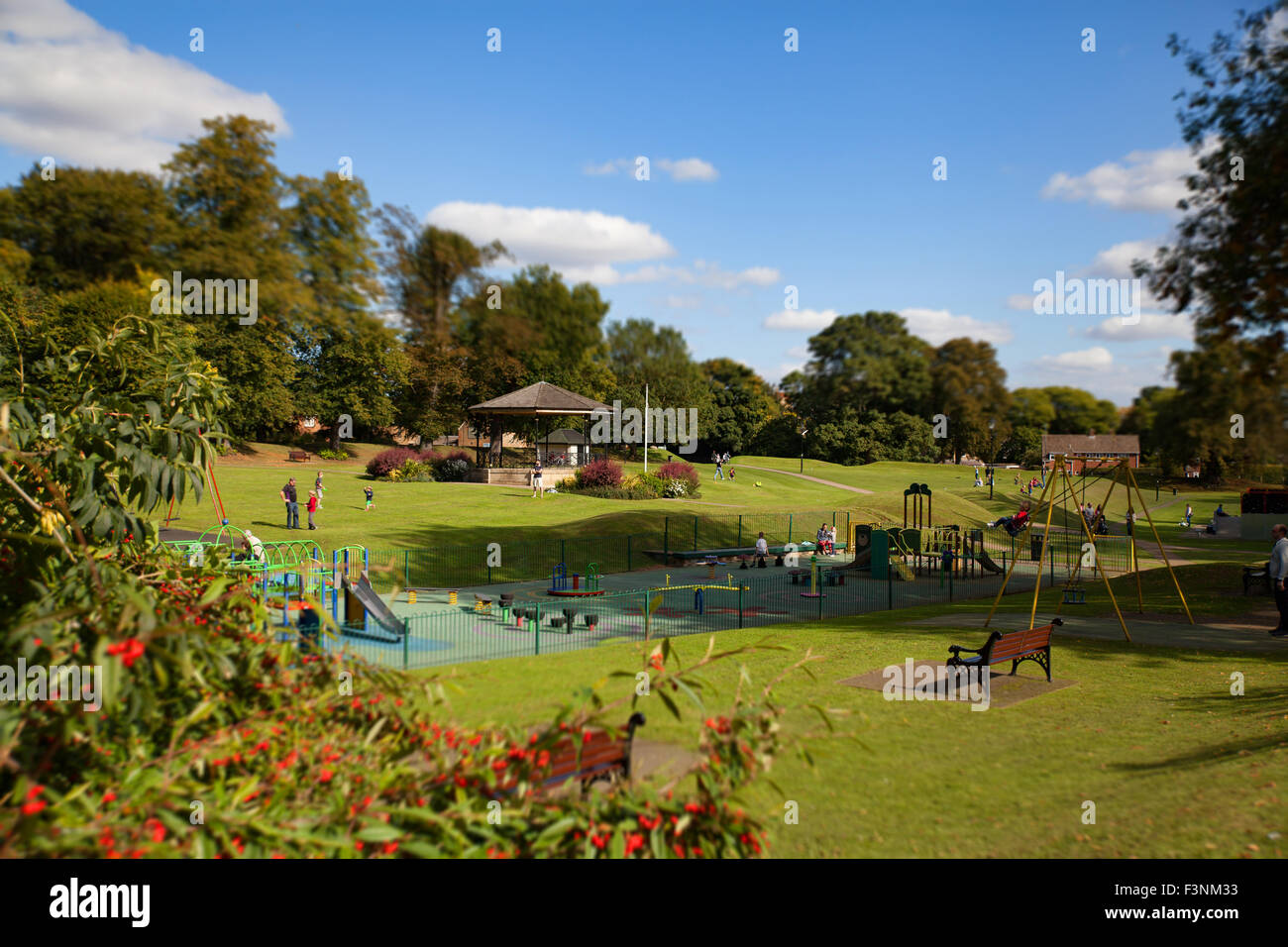 Play park and Bandstand in Oakham - Stock Image