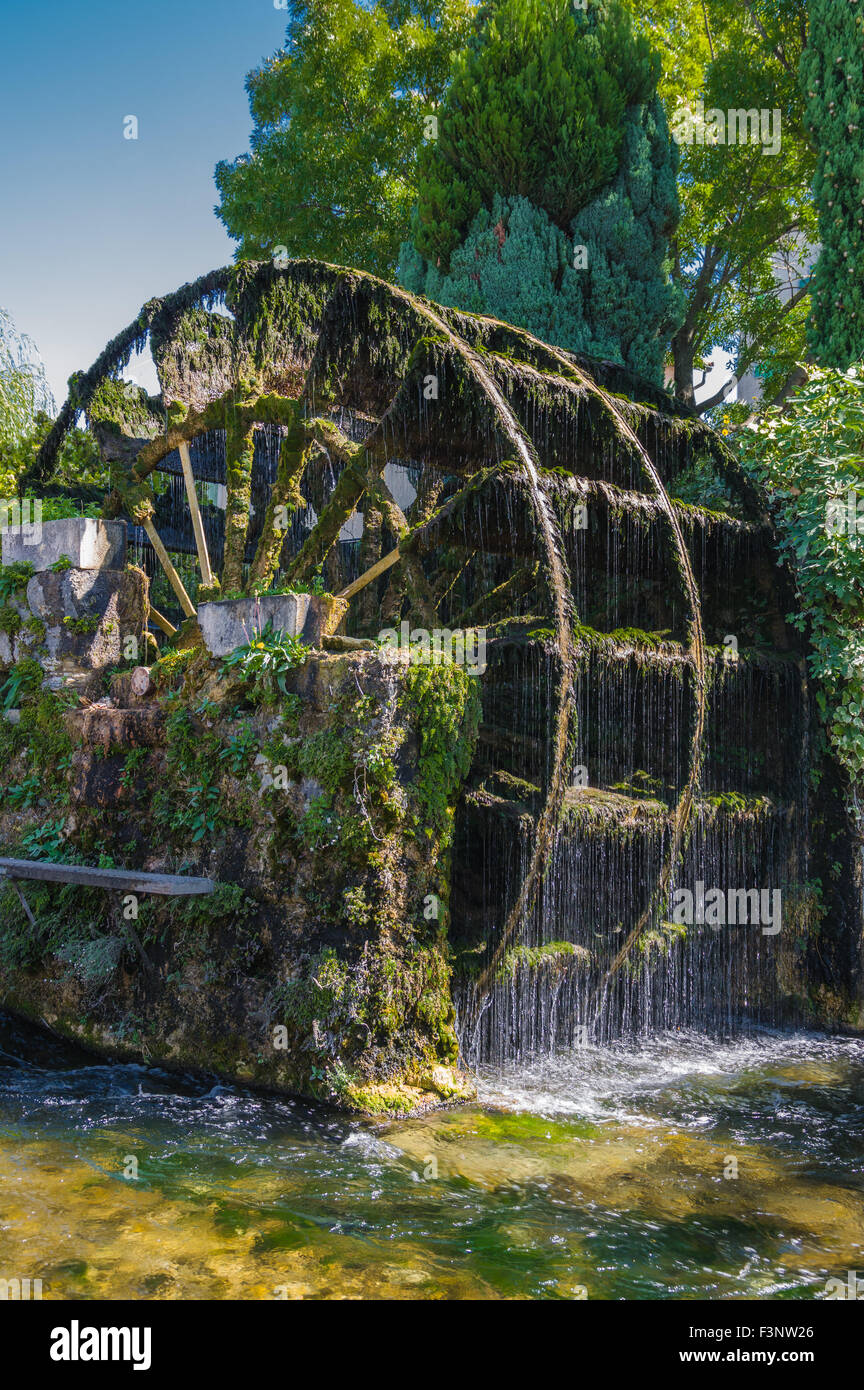 One of the several water wheels in L'Isle-sur-la-Sorgue, France - Stock Image