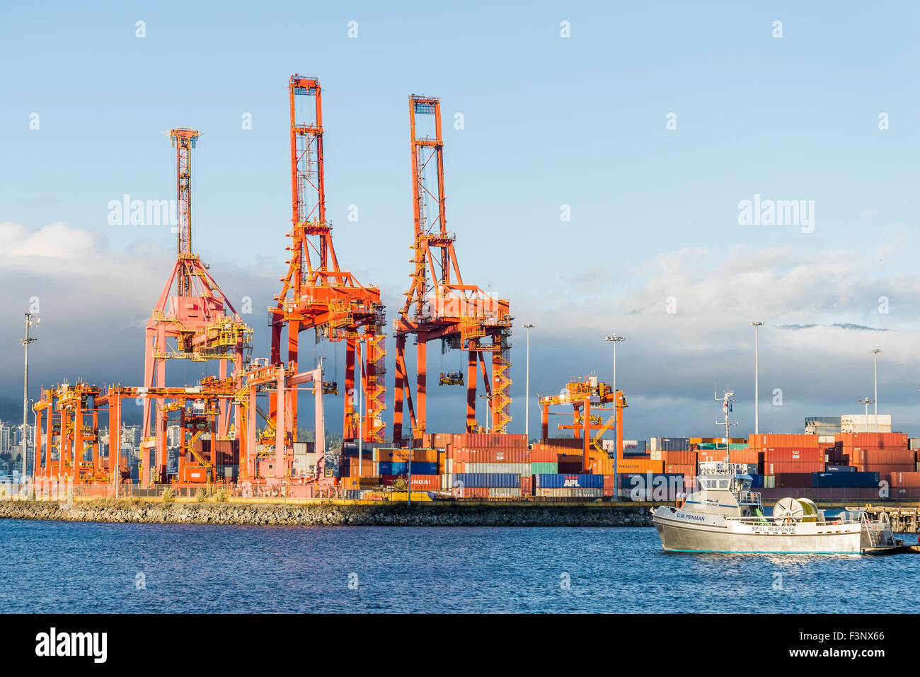 G.M. Enman, oil spill response vessel, Port of Vancouver, British Columbia, Canada - Stock Image