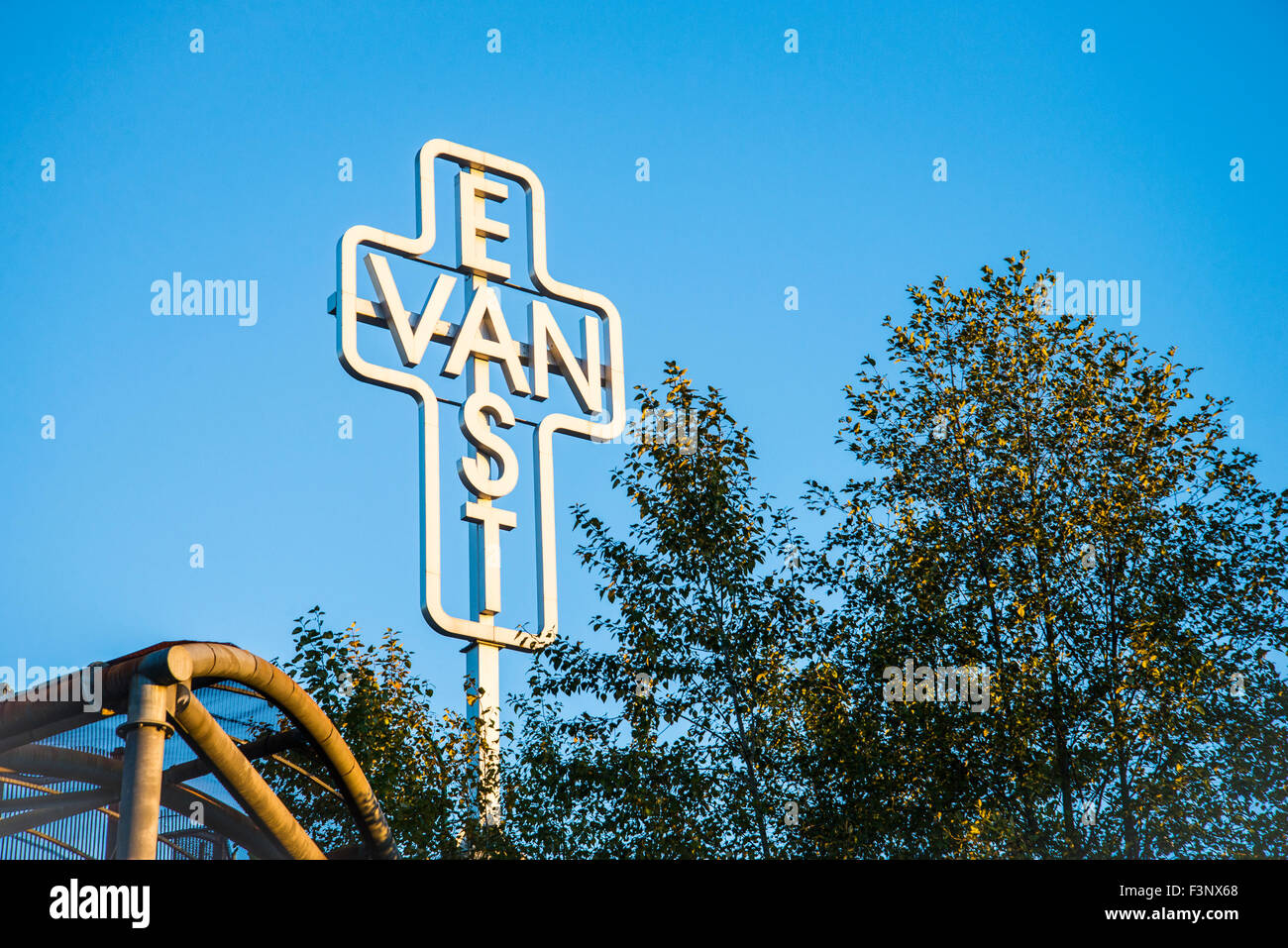 Monument for East Vancouver by artist Ken Lum, Vancouver, British Columbia, Canada - Stock Image