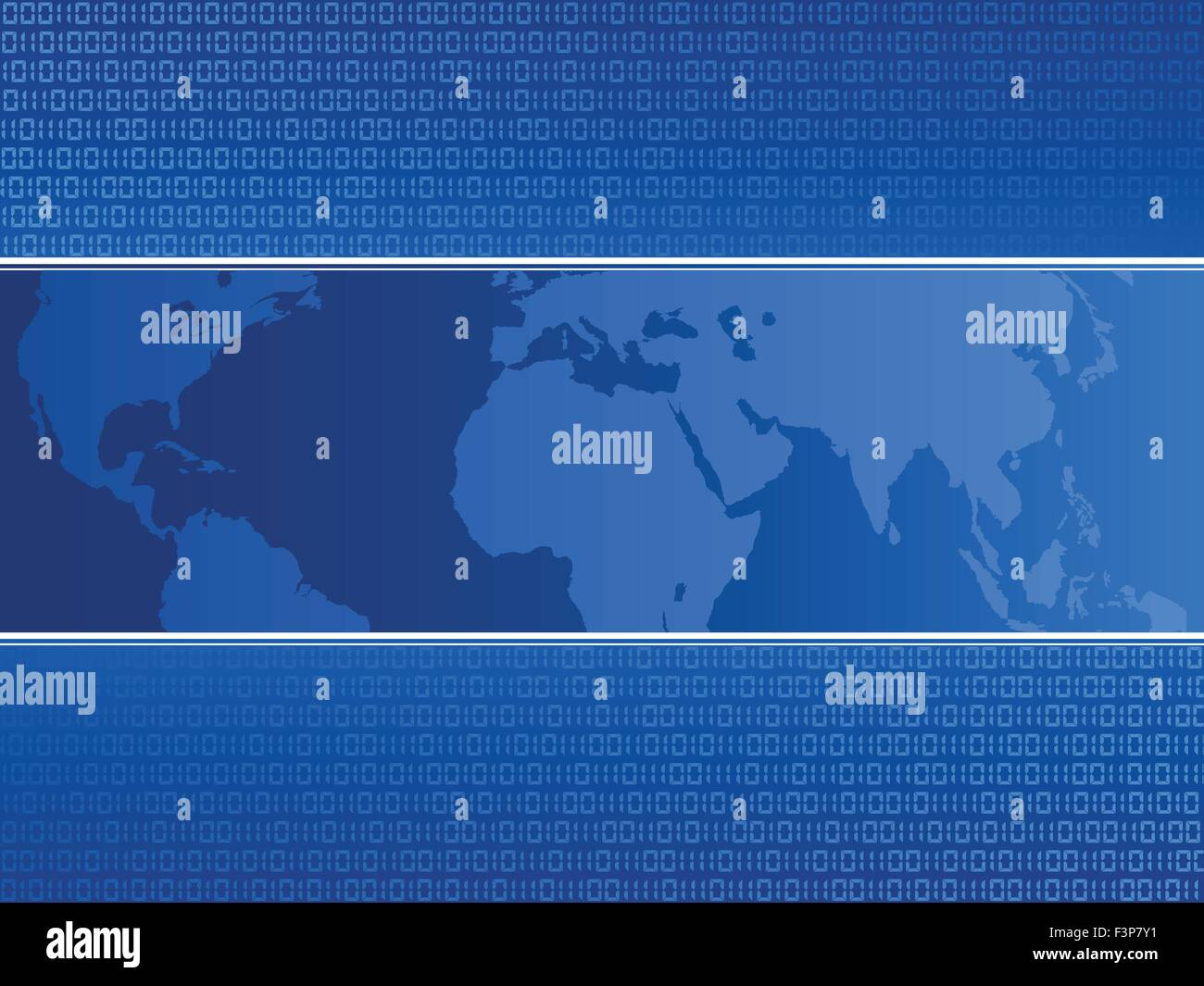 Abstract Blue World Map Binary Stock Vector Images Alamy Abstact Background With Circuit Board And Code