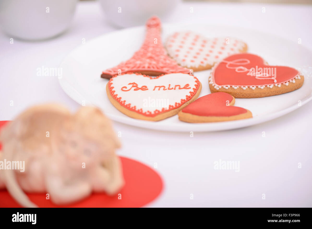 Nice cookies lying on the plate - Stock Image