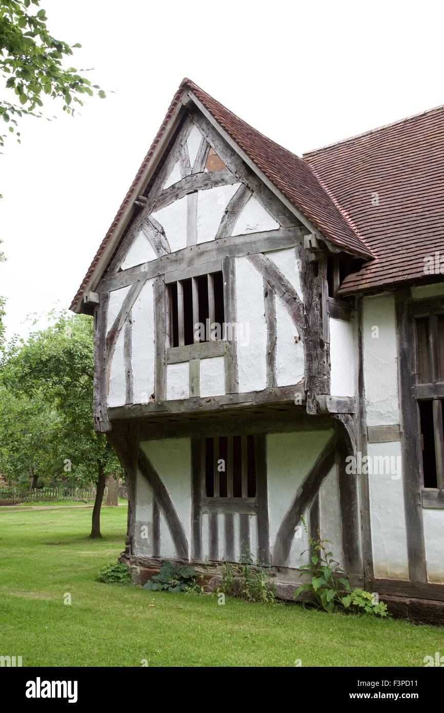English Tudor house showing gable. - Stock Image