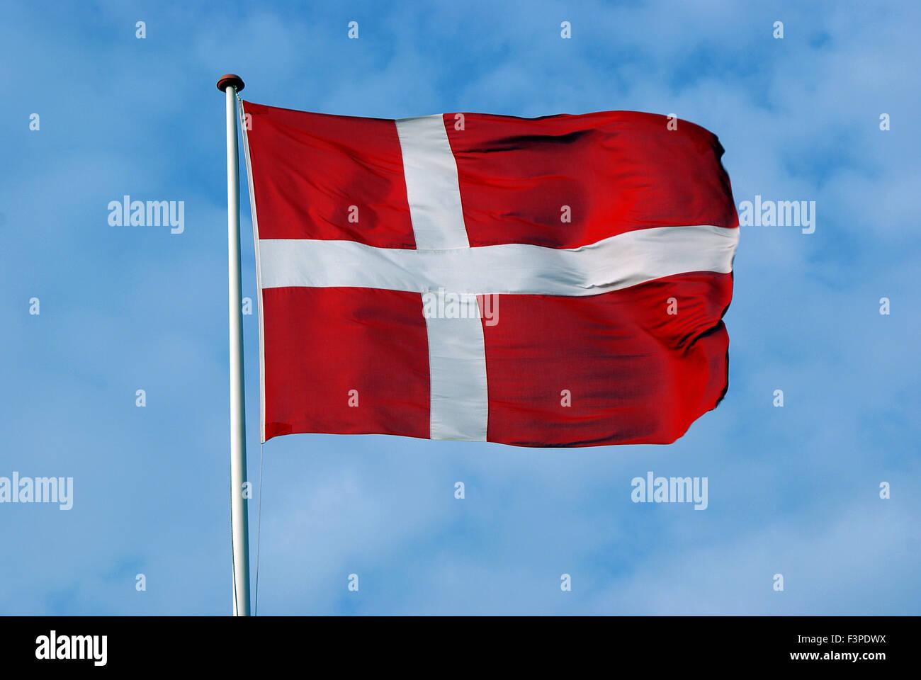 Dannebrog, The Danish Flag - Stock Image