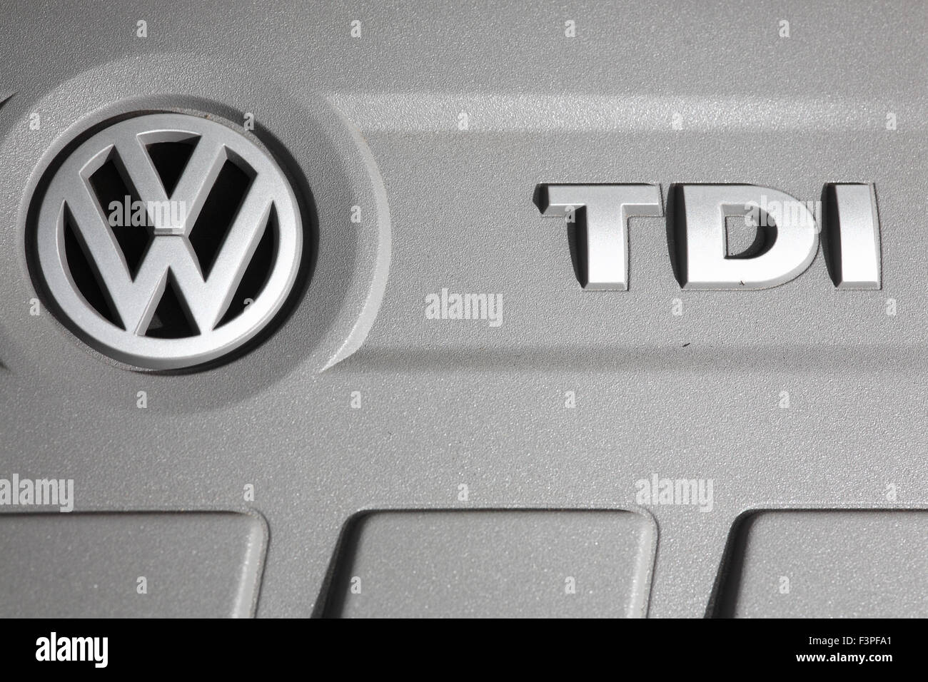 VW Golf engine cover - Stock Image