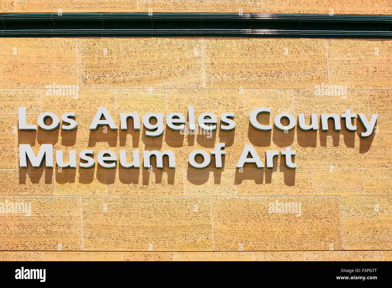 The Los Angeles County Museum of Art (LACMA) wall sign on Wilshire ...