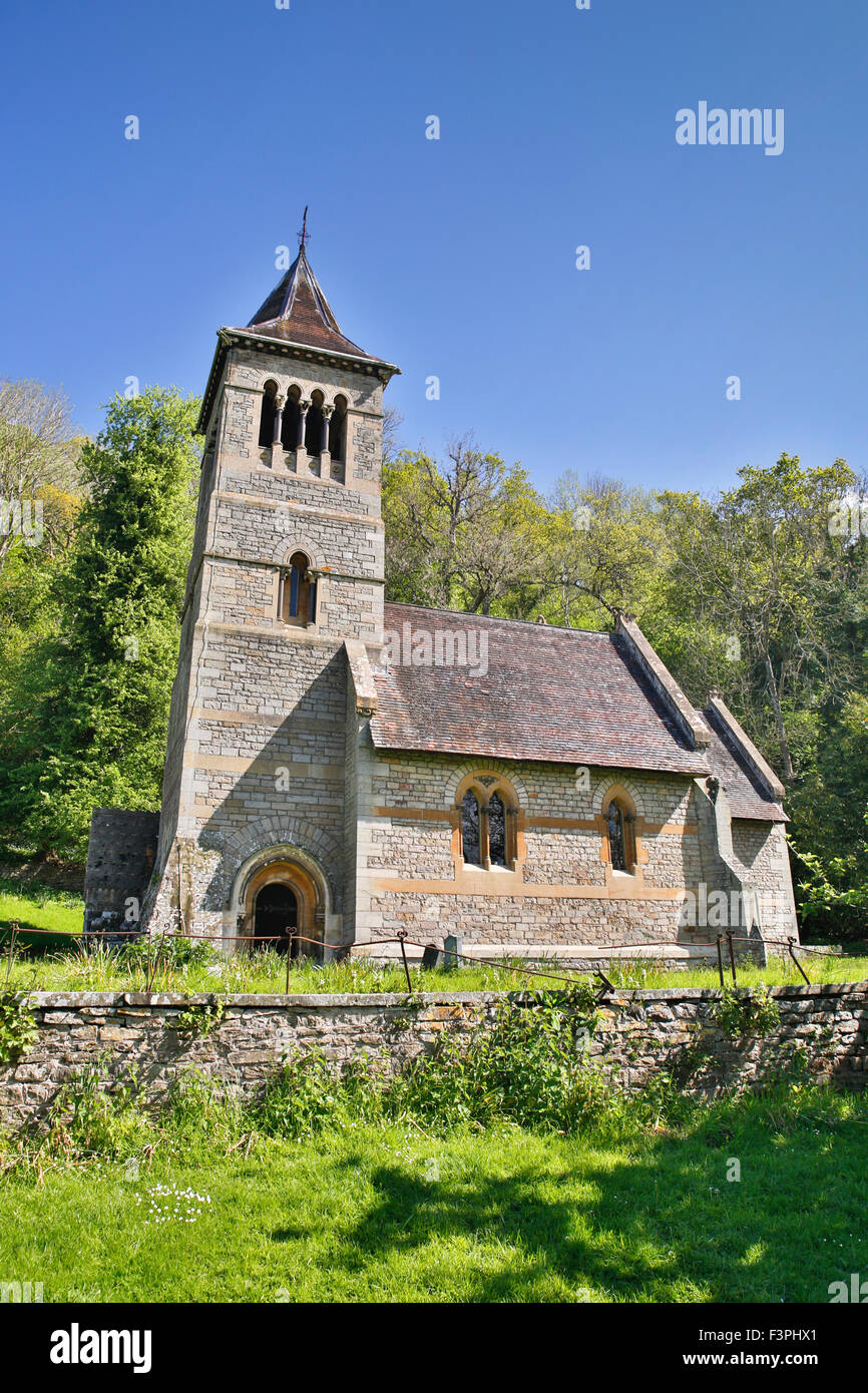 Welsh Bicknor Church; Wye Valley Herefordshire; UK - Stock Image
