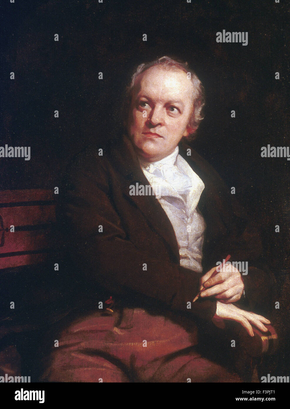 Thomas Phillips - Portrait of William BLake - Stock Image