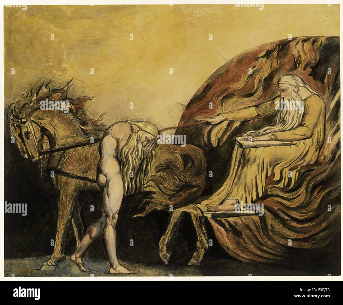 William BLake - God Judging Adam - Stock Image
