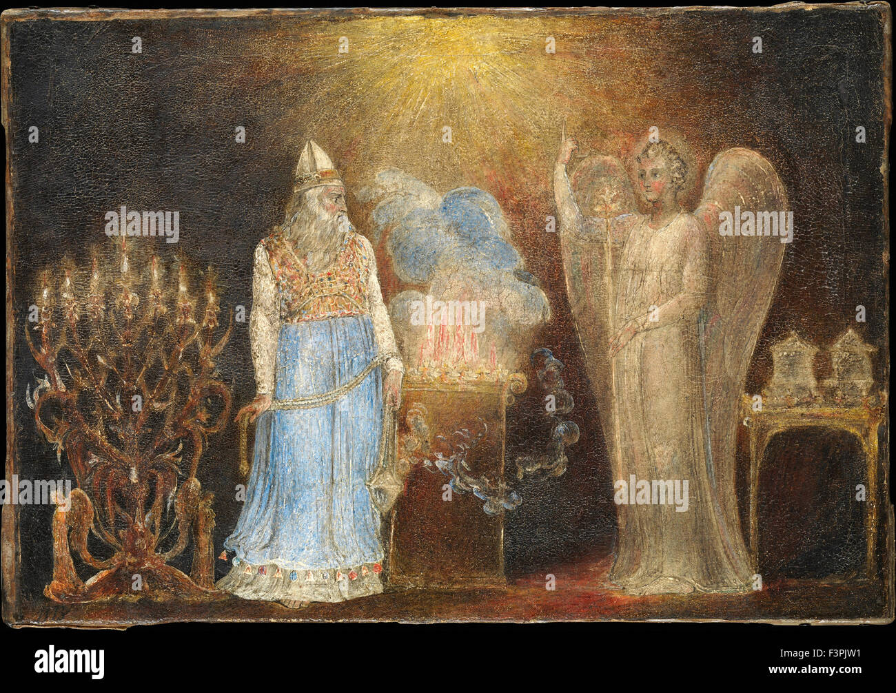 William BLake - The Angel Appearing to Zacharias - Stock Image
